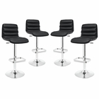 Modway Ripple Bar Stool Set of 4 in Black MY-EEI-2023-BLK-SET