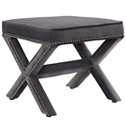 Modway Rivet Upholstered Velvet Ottoman in Gray MY-EEI-2324-GRY