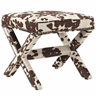 Modway Rivet Velvet Bench in Cowhide MY-EEI-2325-COW