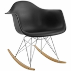 Modway Rocker Plastic Lounge Chair in Black MY-EEI-147-BLK