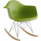 Modway Rocker Plastic Lounge Chair in Green MY-EEI-147-GRN