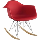 Modway Rocker Plastic Lounge Chair in Red MY-EEI-147-RED