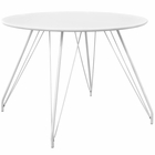 Modway Satellite Circular White Dining Table in White MY-EEI-2673-WHI-SET