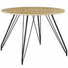 Modway Satellite Round Dining Table in Natural MY-EEI-2670-NAT-SET