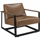 Modway Seg Faux Leather Accent Chair in Brown MY-EEI-2075-BRN