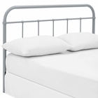 Modway Serena King Steel Headboard in Gray MY-MOD-5537-GRY