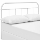 Modway Serena King Steel Headboard in White MY-MOD-5537-WHI