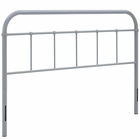 Modway Serena Queen Steel Headboard in Gray MY-MOD-5536-GRY
