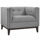 Modway Serve Upholstered Fabric Armchair in Light Gray MY-EEI-2134-LGR