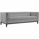 Modway Serve Upholstered Fabric Sofa in Light Gray MY-EEI-2135-LGR