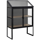 Modway Settle Glass Cabinet in Black MY-EEI-2645-BRN