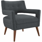 Modway Sheer Upholstered Fabric Armchair in Gray MY-EEI-2142-GRY