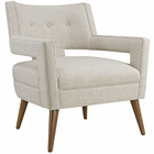 Modway Sheer Upholstered Fabric Armchair in Sand MY-EEI-2142-SAN