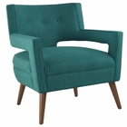 Modway Sheer Upholstered Fabric Armchair in Teal MY-EEI-2142-TEA