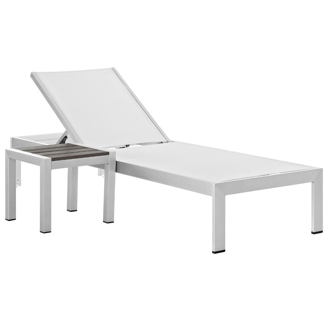 Amazing Modway Shore 2 Piece Outdoor Patio Aluminum Chaise Lounge Theyellowbook Wood Chair Design Ideas Theyellowbookinfo