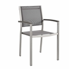 Modway Shore Outdoor Patio Aluminum Dining Chair in Silver Gray MY-EEI-2272-SLV-GRY
