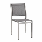 Modway Shore Outdoor Patio Aluminum Dining Side Chair in Silver Gray MY-EEI-2259-SLV-GRY