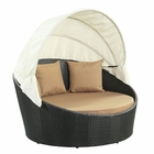 Modway Siesta Canopy Outdoor Patio Daybed in Espresso Mocha MY-EEI-642-EXP-MOC
