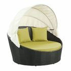 Modway Siesta Canopy Outdoor Patio Daybed in Espresso Peridot MY-EEI-642-EXP-PER
