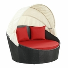 Modway Siesta Canopy Outdoor Patio Daybed in Espresso Red MY-EEI-642-EXP-RED