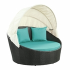 Modway Siesta Canopy Outdoor Patio Daybed in Espresso Turquoise MY-EEI-642-EXP-TRQ