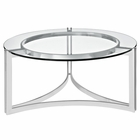 Modway Signet Stainless Steel Coffee Table in Silver MY-EEI-1438-SLV