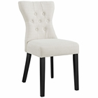 Modway Silhouette Dining Upholstered Fabric Side Chair in Beige MY-EEI-1380-BEI