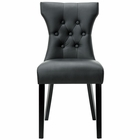 Modway Silhouette Tufted Faux Leather Dining Side Chair in Black MY-EEI-812-BLK