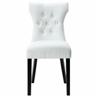 Modway Silhouette Tufted Faux Leather Dining Side Chair in White MY-EEI-812-WHI