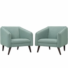 Modway Slide Armchairs Set of 2 in Laguna MY-EEI-2452-LAG-SET
