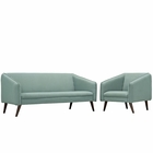Modway Slide Living Room Set Set of 2 in Laguna MY-EEI-2453-LAG-SET