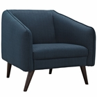 Modway Slide Upholstered Fabric Armchair in Azure MY-EEI-2132-AZU