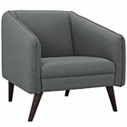 Modway Slide Upholstered Fabric Armchair in Gray MY-EEI-2132-GRY