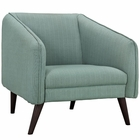 Modway Slide Upholstered Fabric Armchair in Laguna MY-EEI-2132-LAG