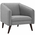 Modway Slide Upholstered Fabric Armchair in LightGray MY-EEI-2132-LGR