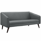 Modway Slide Upholstered Fabric Sofa in Gray MY-EEI-2133-GRY