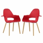 Modway Soar Dining Set Set of 2 in Red MY-EEI-2407-RED-SET