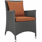 Modway Sojourn Dining Outdoor Patio Wicker Rattan Sunbrella® Armchair in Canvas Tuscan MY-EEI-1924-CHC-TUS