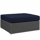 Modway Sojourn Outdoor Patio Sunbrella® Square Ottoman in Canvas Navy MY-EEI-1861-CHC-NAV
