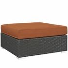 Modway Sojourn Outdoor Patio Sunbrella® Square Ottoman in Canvas Tuscan MY-EEI-1861-CHC-TUS