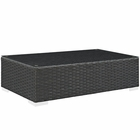 Modway Sojourn Outdoor Patio Wicker Rattan Coffee Table in Chocolate MY-EEI-1852-CHC