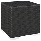 Modway Sojourn Outdoor Patio Wicker Rattan Side Table in Chocolate MY-EEI-1853-CHC