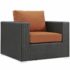 Modway Sojourn Outdoor Patio Wicker Rattan Sunbrella® Armchair in Canvas Tuscan MY-EEI-1850-CHC-TUS