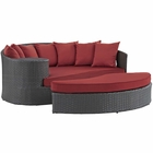 Modway Sojourn Outdoor Patio Wicker Rattan Sunbrella® Daybed in Canvas Red MY-EEI-1982-CHC-RED