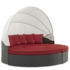 Modway Sojourn Outdoor Patio Wicker Rattan Sunbrella® Daybed in Canvas Red MY-EEI-1986-CHC-RED