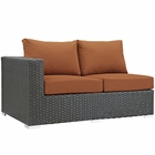 Modway Sojourn Outdoor Patio Wicker Rattan Sunbrella® Left Arm Loveseat in Canvas Tuscan MY-EEI-1858-CHC-TUS
