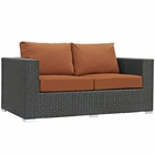 Modway Sojourn Outdoor Patio Wicker Rattan Sunbrella® Loveseat in Canvas Tuscan MY-EEI-1851-CHC-TUS