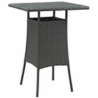 Modway Sojourn Small Outdoor Patio Wicker Rattan Bar Table in Chocolate MY-EEI-1958-CHC