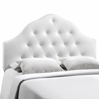 Modway Sovereign King Tufted Faux Leather Headboard in White MY-MOD-5167-WHI