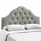 Modway Sovereign King Tufted Upholstered Fabric Headboard in Gray MY-MOD-5166-GRY